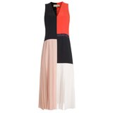 Colour Block Cut-Up V-Neck Dress