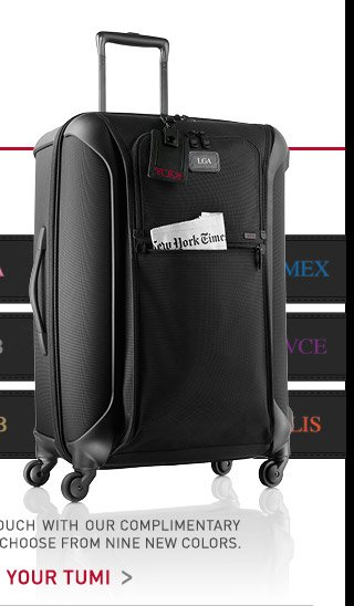 Personalize Your Tumi