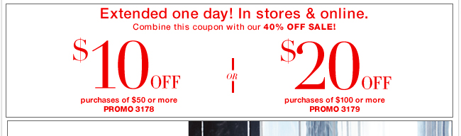 One EXTRA day to SAVE with your coupon!