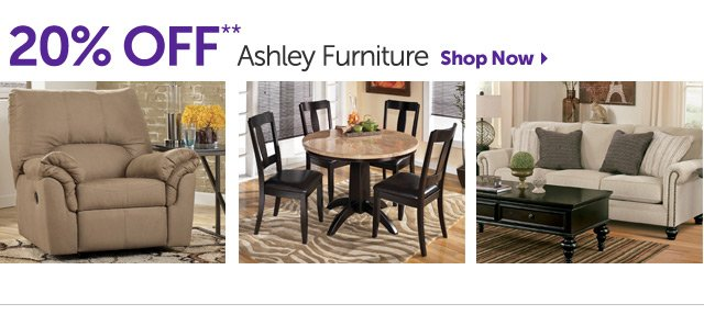 20% OFF Ashley Furniture - Shop Now