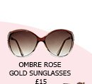 Amber Ombre Rose Gold Sunglasses