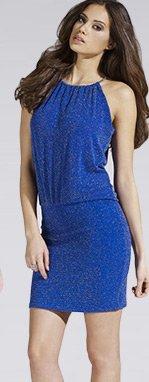 Halterneck Glitter Dress