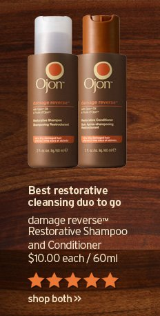 Best restorative cleansing duo to go damage reverse restorative  Shampoo and Conditioner 10 dollars 60ml SHOP NOW