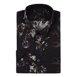 Black X-Ray Floral Print Shirt
