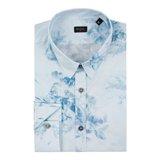 Blue X-Ray Floral Print Shirt