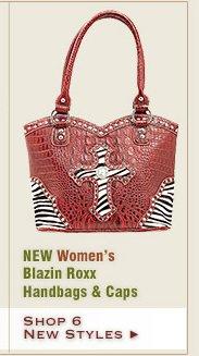 New Womens Blazin Roxx Handbags and Caps