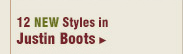 New Womens Justin Boots