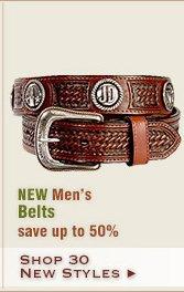 New Mens Belts
