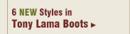 New Womens Tony Lama Boots