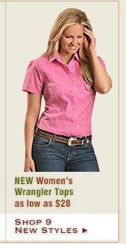 New Womens Wrangler Tops