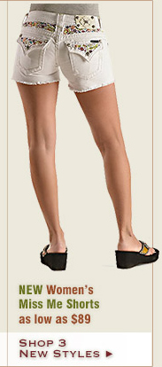 New Womens Miss Me Shorts