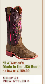 New Womens Made in the USA Boots