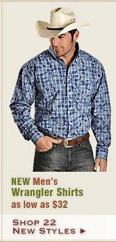 New Mens Wrangler Shirts
