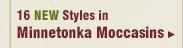 New Mens Minnetonka Moccasins
