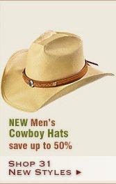 New Mens Cowboy Hats