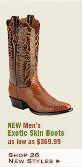New Mens Exotic Skin Boots