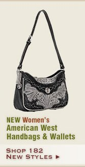 New Womens American West Handbags and Wallets