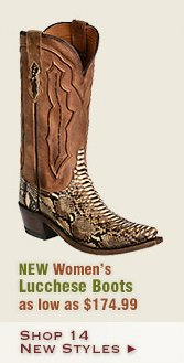 New Womens Lucchese Boots