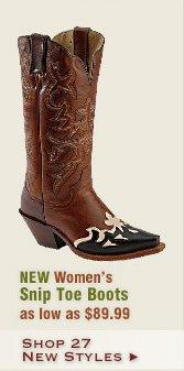New Womens Snip Toe Boots