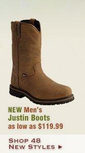 New Mens Justin Boots