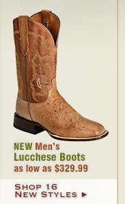 New Mens Lucchese Boots