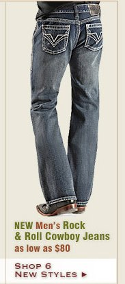 New Mens Rock and Roll Cowboy Jeans