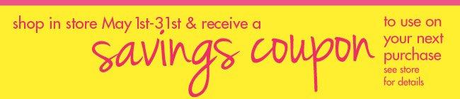 savings coupon