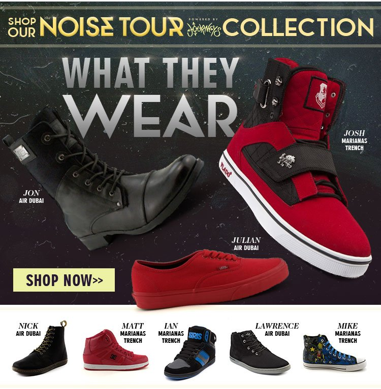 Wear What the Bands Wear. Shop the Noise Tour Collection.