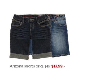 Arizona shorts orig. $19 $13.99›