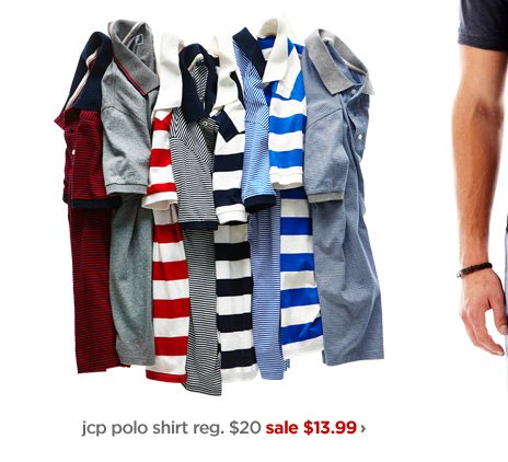 jcp polo shirt reg. $20 sale $13.99›