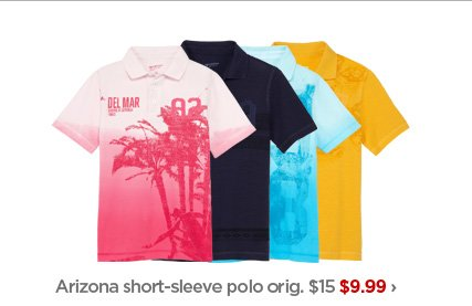 Arizona short-sleeve polo orig. $15 $9.99›