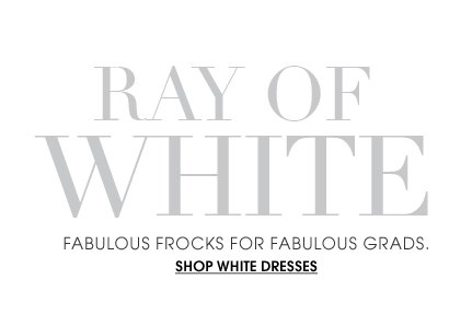 Ray of White - Shop White Dresses For Grads