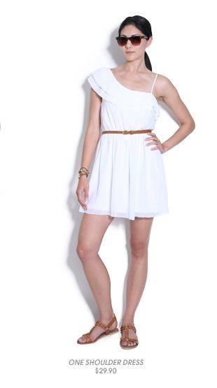 Shop One Shoulder Chiffon Dress