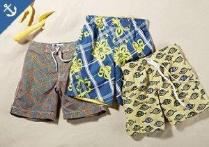 Swim & Sun: Boys' Trunks, Boardshorts & Tees