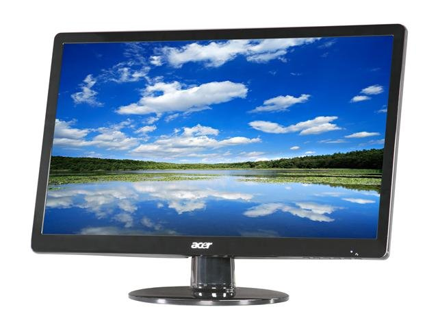 Acer S220HQLAbd Black 21.5 inch 5ms LED Backlight Widescreen LCD Monitor 250 cd/m2 ACM 100,000,000:1 (1000:1)