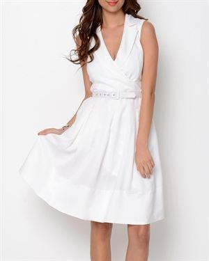 Premise Greenhouse Belted A-Line Dress