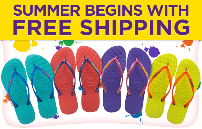 Summer begins with free shipping