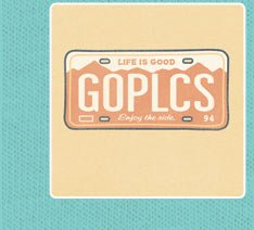 Go Places License Plate