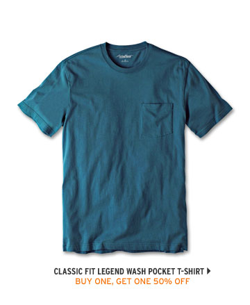 Classic Fit Legend Wash Pocket T-Shirt