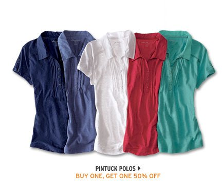 Pintuck Polo Shirt