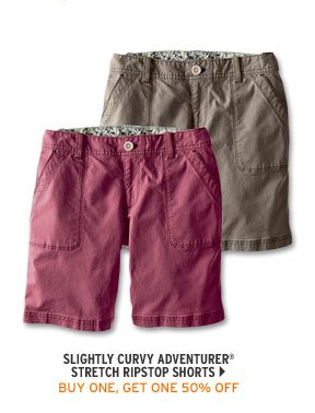 Slightly Curvy Adventurer® Stretch Ripstop Shorts