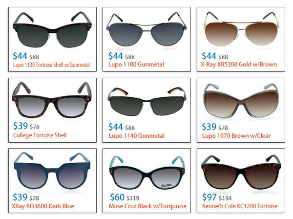 Rx Sunglasses From $44!