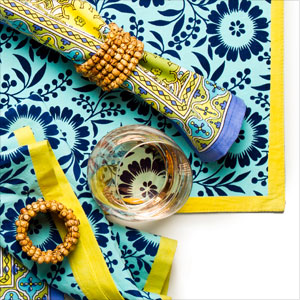 Switch Up the Table Linens: Summery Brights