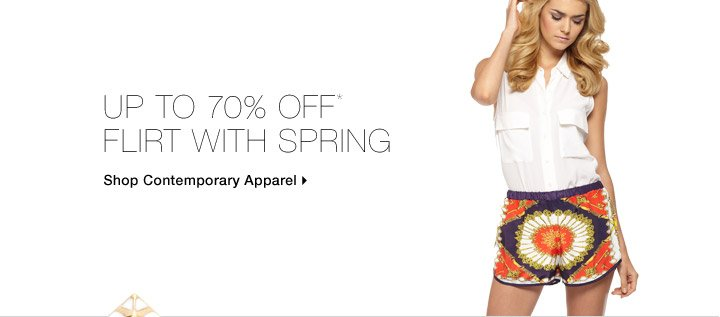 Up To 70% Off* Flirt With Spring