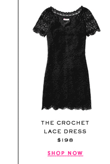 The Crochet Lace Dress at $198. Shop Now.