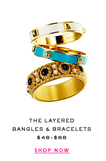 The Layered Bangles and Bracelets at $48-$88. Shop Now.