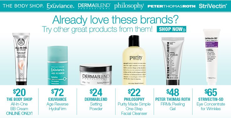 Already like these brands? Try other great products from them! SHOP NOW.