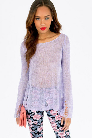 SLASHED MIXED KNIT SWEATER 39