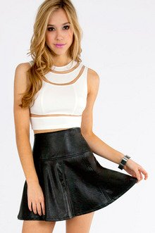 TEGAN CUTOUT CROP TOP 25
