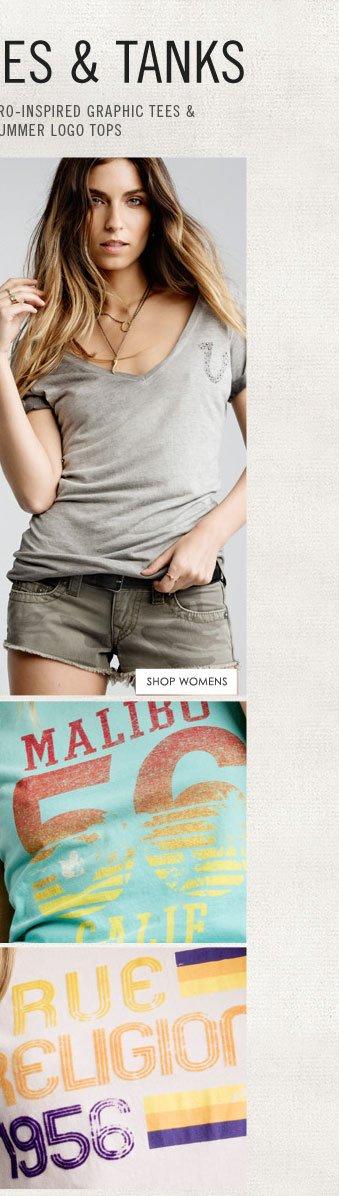 Summer Tees & Tanks - Shop Womens